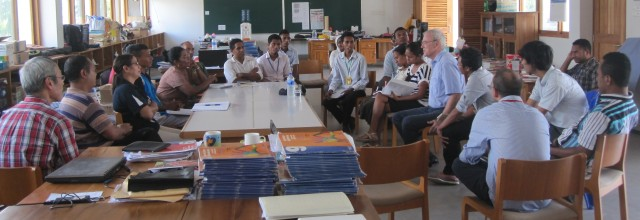 Teachers Meeting with Fr. Mark